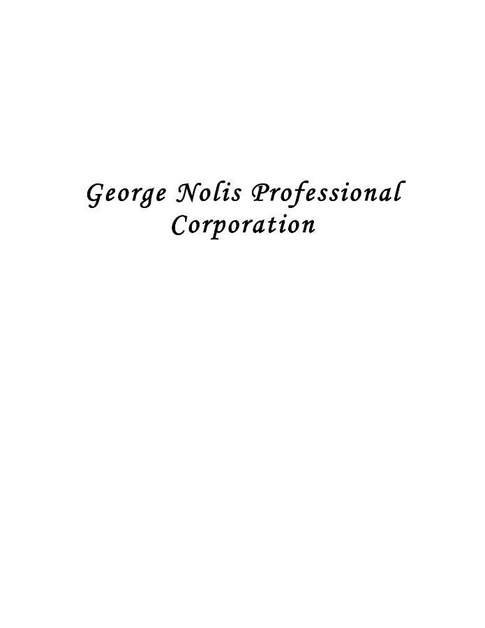 George Nolis Professional Corporation